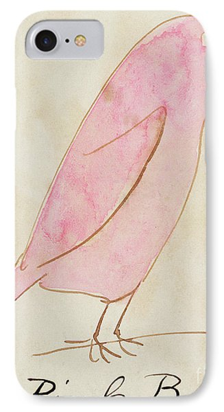 The Pink Bird IPhone Case by Edward Lear
