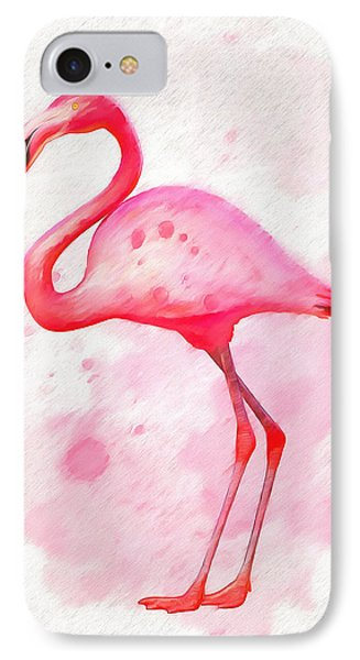 The Pink Flamingo IPhone Case by Dan Sproul
