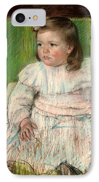 The Pink Sash IPhone Case by Mary Cassatt