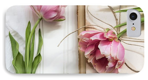 IPhone Case featuring the photograph The Pink Tulips by Kim Hojnacki