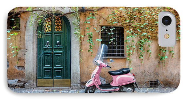 The Pink Vespa Phone Case by Al Hurley