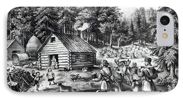 The Pioneer's Home On The Western Frontier IPhone Case