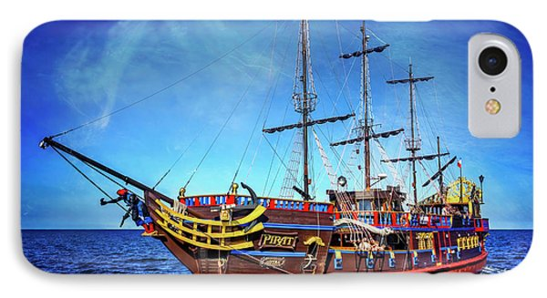 The Pirate Ship Ustka In Sopot  IPhone Case by Carol Japp