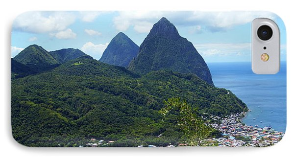 IPhone Case featuring the photograph The Pitons, St. Lucia by Kurt Van Wagner