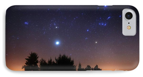 The Pleiades, Taurus And Orion Phone Case by Luis Argerich