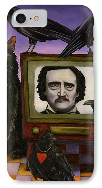 The Poe Show IPhone Case by Leah Saulnier The Painting Maniac