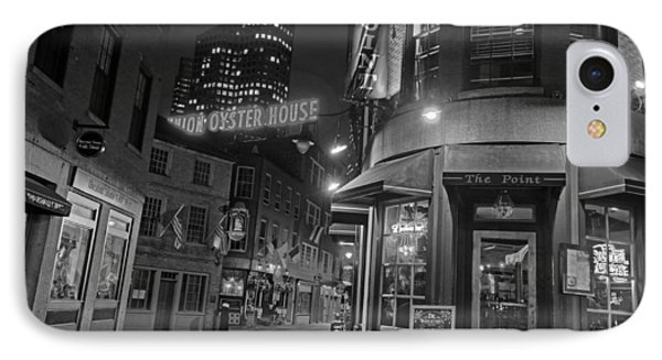 The Point Marshall Street Boston Ma Black And White IPhone Case by Toby McGuire