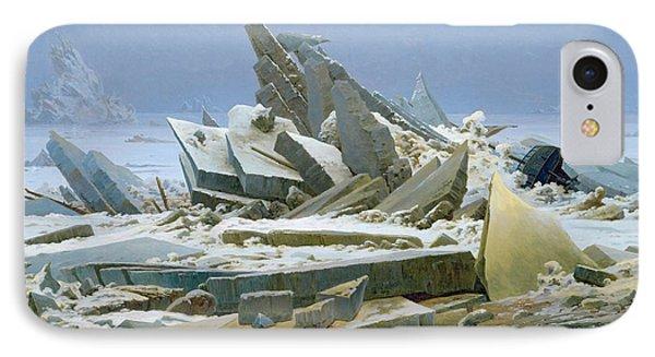 The Polar Sea IPhone Case by Caspar David Friedrich