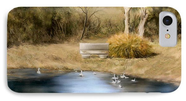 IPhone Case featuring the painting The Pond by Bonnie Willis