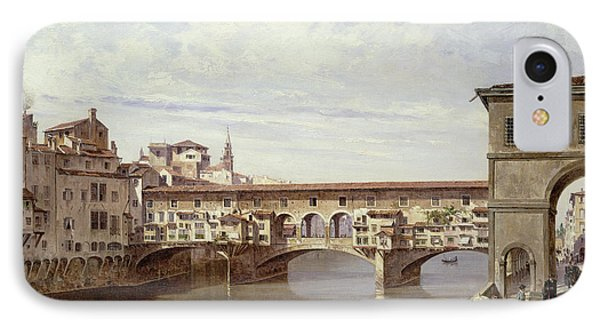 The Pontevecchio - Florence  IPhone Case by Antonietta Brandeis