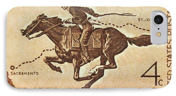 The Pony Express Centennial Stamp IPhone Case by Lanjee Chee