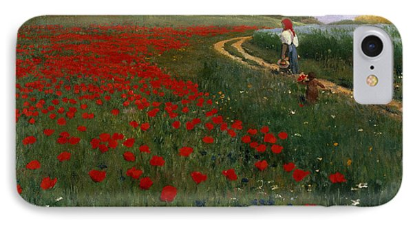 The Poppy Field IPhone Case by Pal Szinyei Merse