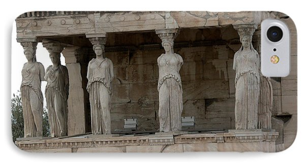 The Porch Of The Caryatids IPhone Case by David Bearden