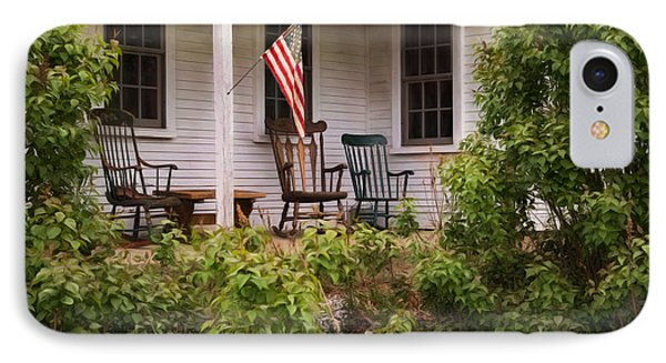 IPhone Case featuring the photograph The Porch by Robin-Lee Vieira