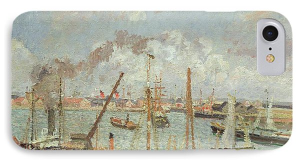 The Port Of Le Havre In The Afternoon Sun IPhone Case by Camille Pissarro