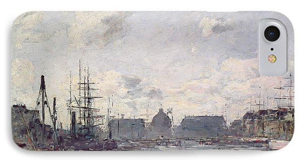 The Port Of Trade Phone Case by Eugene Louis Boudin