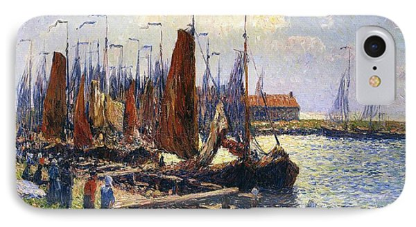 The Port Of Volendam IPhone Case by Henry Moret