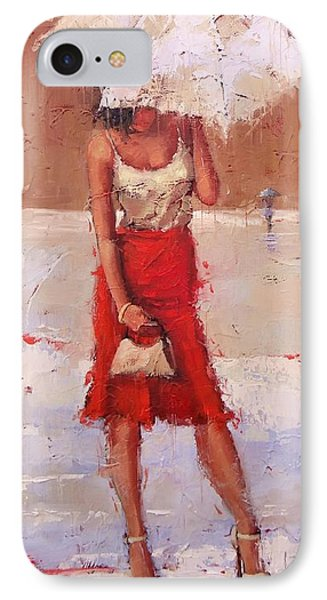 The Pose IPhone Case by Laura Lee Zanghetti