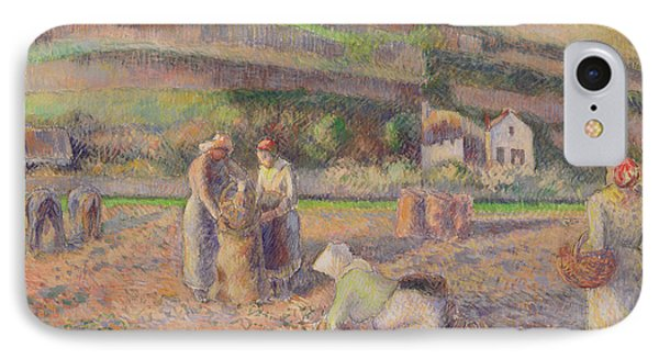 The Potato Harvest IPhone Case by Camille Pissarro