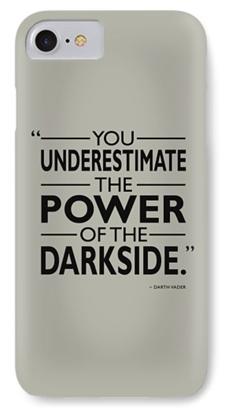 The Power Of The Darkside IPhone Case by Mark Rogan