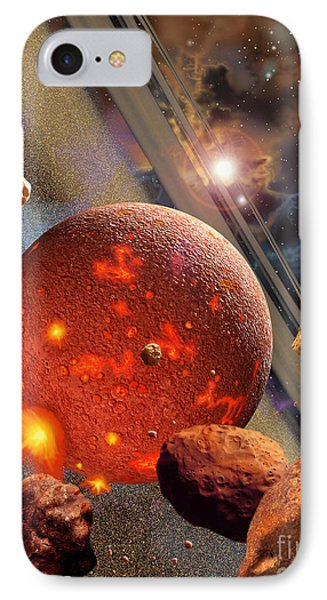 The Primordial Earth Being Formed IPhone Case by Ron Miller