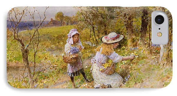 The Primrose Gatherers IPhone Case by William Stephen Coleman
