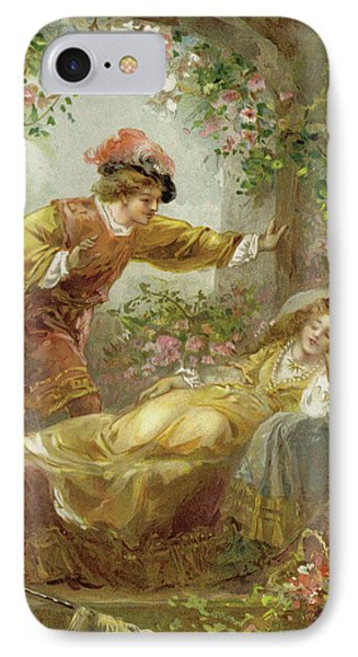 The Prince Finds The Sleeping Beauty IPhone Case by English School