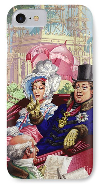 The Prince Regent Visits The Royal Pavilion At Brighton IPhone Case by Pat Nicolle