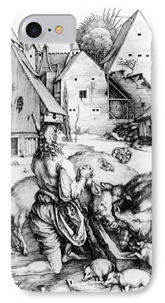 The Prodigal Son IPhone Case by Albrecht Durer or Duerer