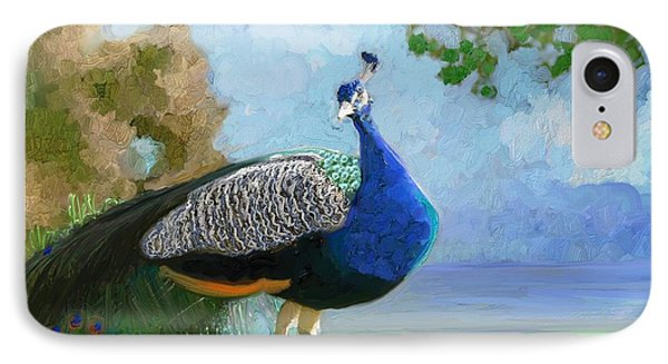 The Proud Peacock IPhone Case by Aline Halle-Gilbert