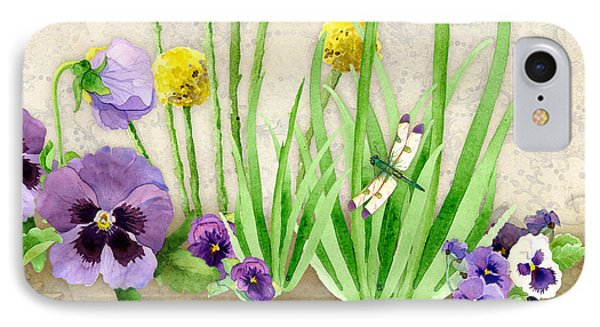 The Promise Of Spring - Dragonfly IPhone Case by Audrey Jeanne Roberts