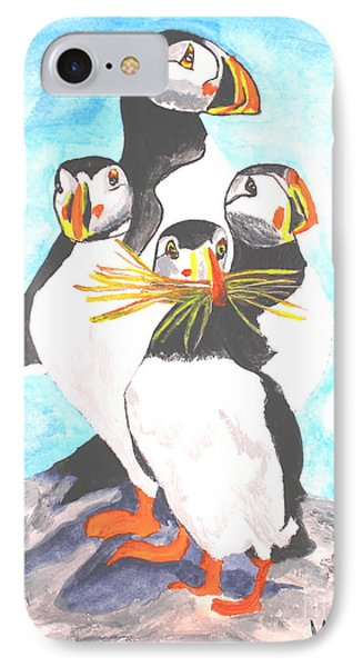 The Puffins Family IPhone Case by Scott D Van Osdol