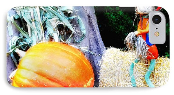 the Pumpkin and the Scarecrow Phone Case by Bill Cannon