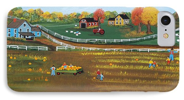 The Pumpkin Patch IPhone Case by Virginia Coyle