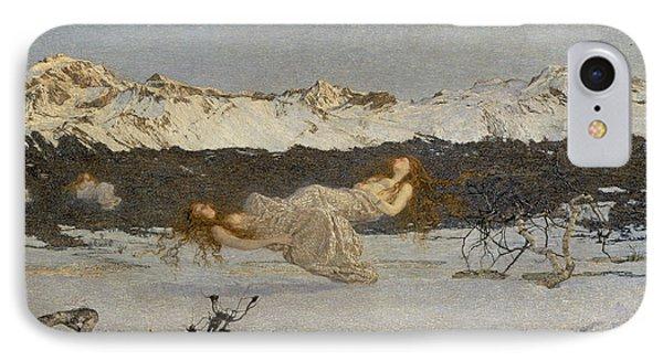 Punishment iPhone 7 Case - The Punishment Of Lust  by Giovanni Segantini
