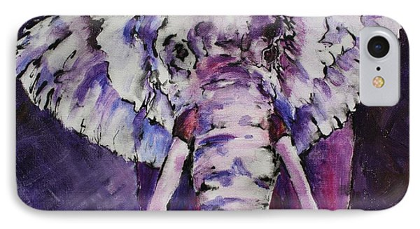 The Purple Bull IPhone Case by Tara Moorman