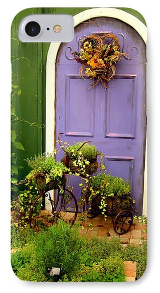 The Purple Door IPhone Case by Michiale Schneider