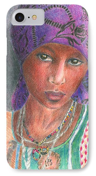 The Purple Scarf  Phone Case by Arline Wagner