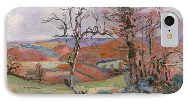 The Puy Barion At Crozant Phone Case by Jean Baptiste Armand Guillaumin