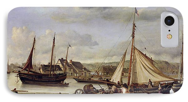 The Quay At Rouen Phone Case by Jean Baptiste Camille Corot