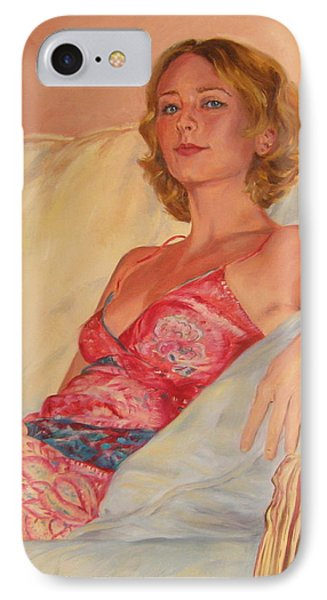 The Queen At Her Ease IPhone Case by Connie Schaertl