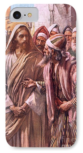 The Question Of The Sadducees IPhone Case by Harold Copping