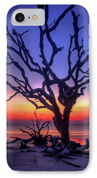 The Quiet Driftwood Beach Live Oaks Jekyll Island Georgia IPhone Case by Reid Callaway