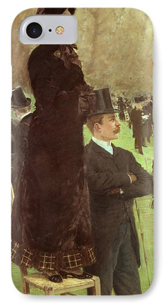 The Races At Auteuil IPhone Case by Joseph de Nittis