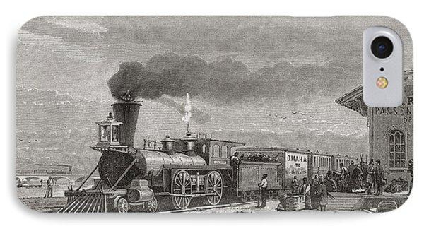 The Railway Station At Omaha, Nebraska IPhone Case