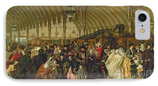 The Railway Station IPhone Case by William Powell Frith