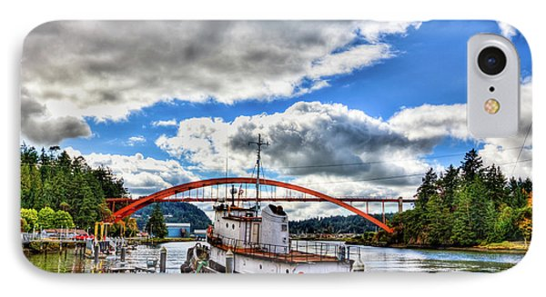 The Rainbow Bridge - Laconner Washington IPhone 7 Case by David Patterson