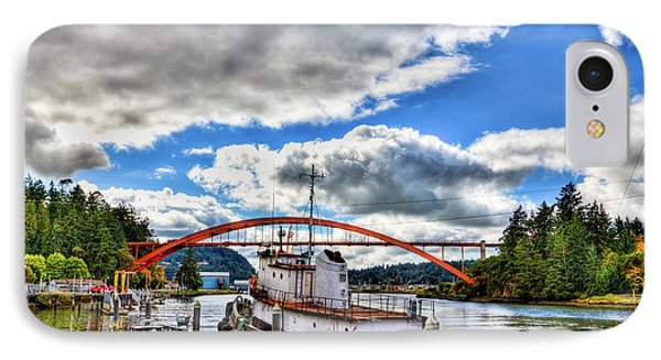 The Rainbow Bridge - Laconner Washington IPhone Case by David Patterson