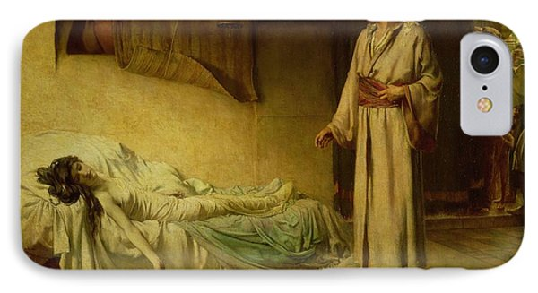 The Raising Of Jairus's Daughter IPhone Case by George Percy Jacomb-Hood