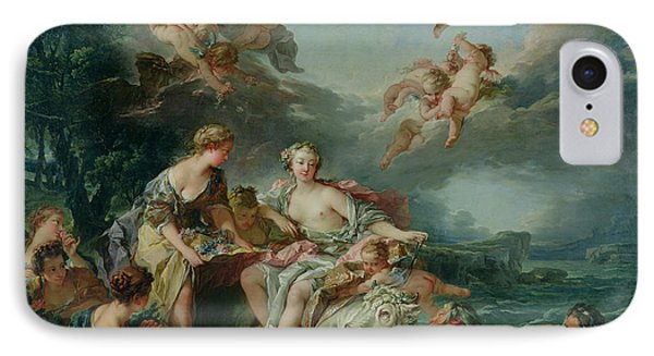 The Rape Of Europa Phone Case by Francois Boucher